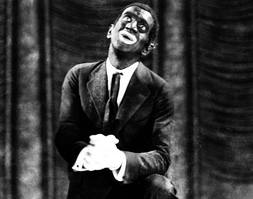 Al jolson in blackface, blackface, blackface tradition, the jazz singer, minstrel man, langston hughes, poem, poetry, pain, smile