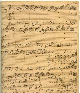 Bach b minor autograph score